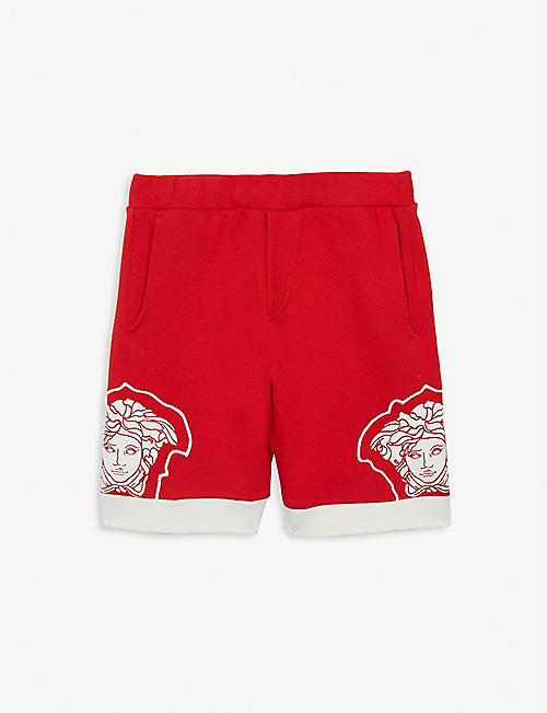 YOUNG VERSACE Medusa cotton sweat shorts 4-14 years