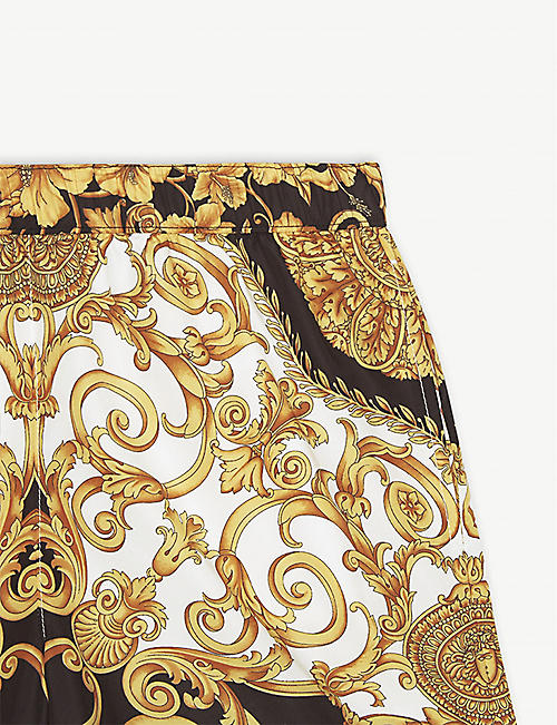 YOUNG VERSACE Baroque print swim shorts 8-10 years
