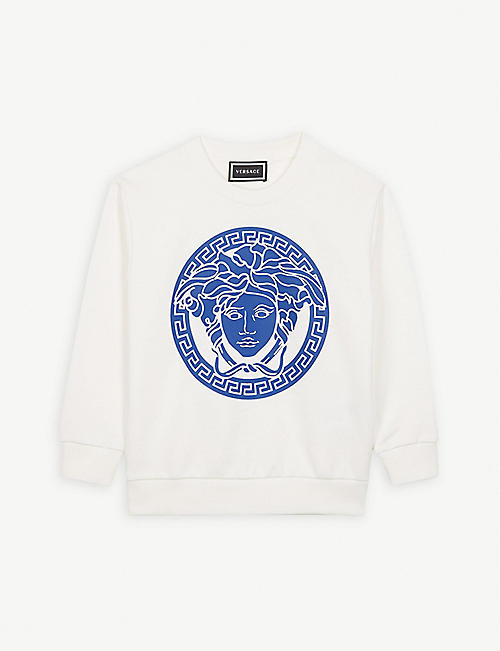 VERSACE Medusa logo cotton jumper 4-14 years
