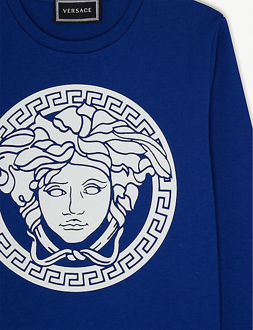 VERSACE Medusa head long-sleeved stretch-cotton T-shirt 4-14 years