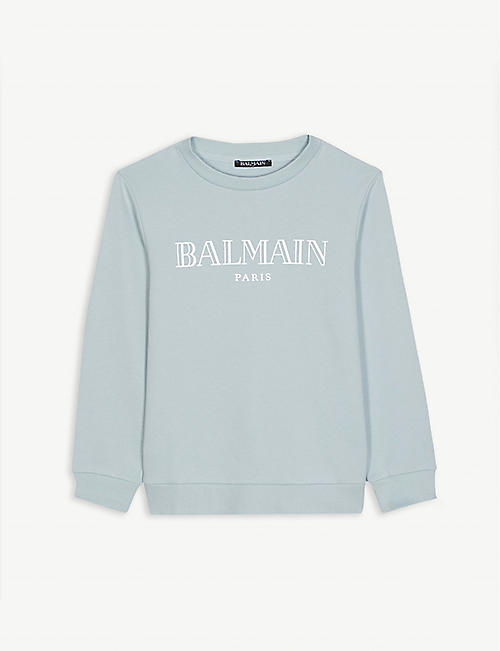 BALMAIN Logo cotton jumper 4-16 years