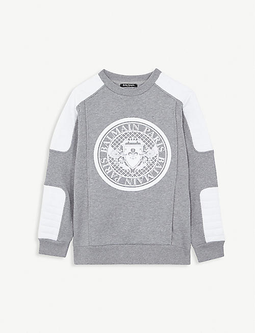 BALMAIN Cotton logo sweatshirt 4-16 years