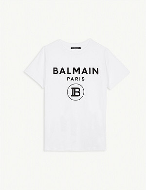 BALMAIN Logo cotton T-shirt 4-16 years