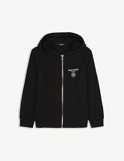 BALMAIN: Cotton zip-up hoody 8-16 years