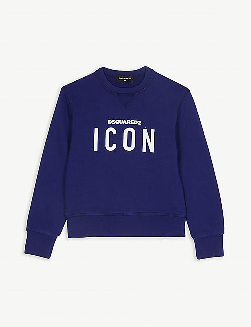 DSQUARED2 Icon graphic cotton sweater 6-10 years