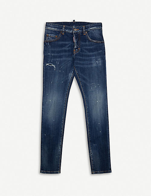 DSQUARED2 Twist distressed slim fit jeans 8-16 years