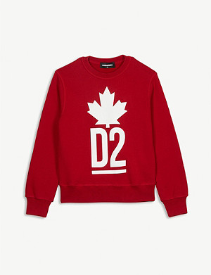 DSQUARED2 Maple leather cotton jumper