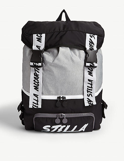 STELLA MCCARTNEY Branded woven backpack