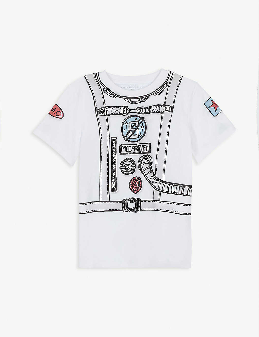 Stella Mccartney Shirts Space-print cotton-jersey T-shirt 4-12 years