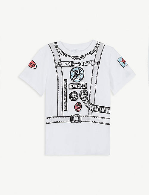 STELLA MCCARTNEY Space-print cotton-jersey T-shirt 4-12 years
