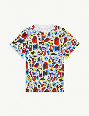 STELLA MCCARTNEY Letter-print cotton-jersey T-shirt 4-15 years