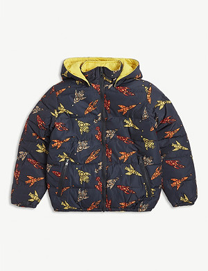 STELLA MCCARTNEY Rocket print reversible puffer jacket 4-10 years