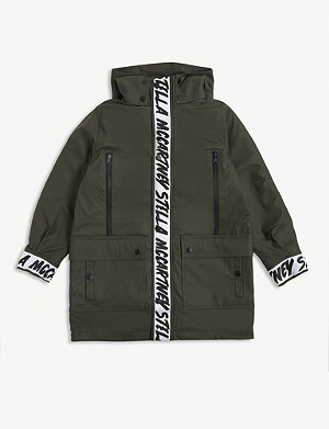 STELLA MCCARTNEY Oversized branded parka 6-15 years