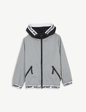 STELLA MCCARTNEY Water repellent logo jacket 4-15 years