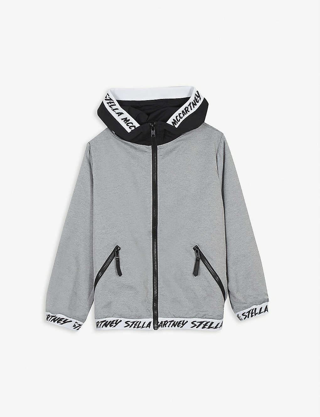 Stella Mccartney Coats Water repellent logo jacket 4-15 years