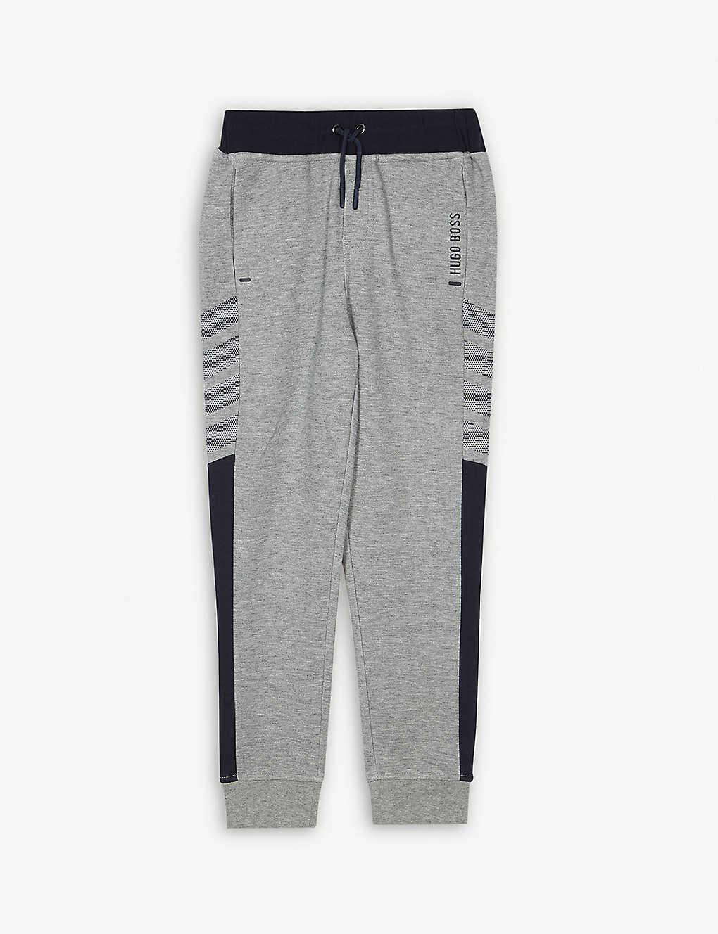 44a7f3b4 BOSS - Chevron leg cottong jogging bottoms 4-16 years | Selfridges.com