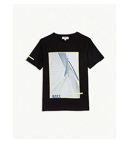 d0236395027 BOSS - Cotton graphic print T-shirt 4-14 years | Selfridges.com