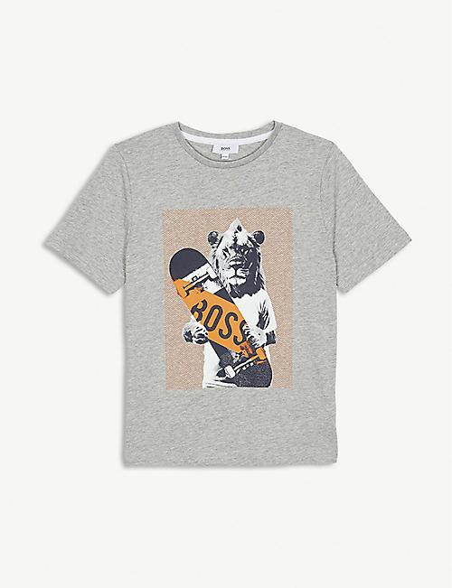 0fd0f0afae36 BOSS Lion skateboard cotton T-shirt 4-16 years