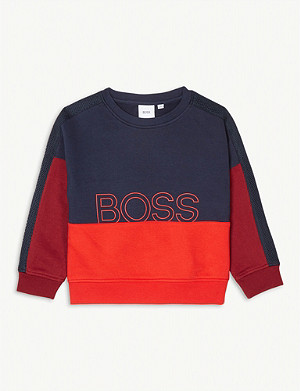BOSS Mesh sleeve jumper 4-16 years