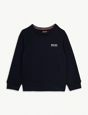 BOSS Embroidered logo cotton sweatshirt 4-16 years