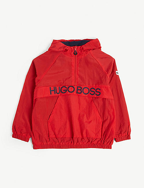 BOSS Logo hooded windbreaker 4-14 years