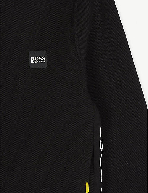 BOSS Tape logo cotton tracksuit set 6-36 months