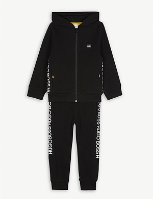 BOSS Tape logo cotton tracksuit set 4-16 years