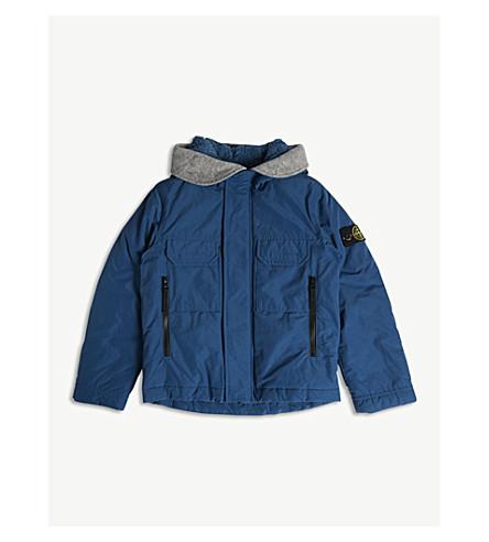 eea8abae03fd STONE ISLAND - Hooded padded down jacket 4-14 years
