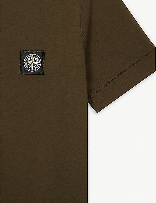 STONE ISLAND Logo patch cotton T-shirt 4-14 years