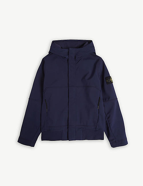 STONE ISLAND Compass logo hooded shell jacket 4-14 years 2c6983fff