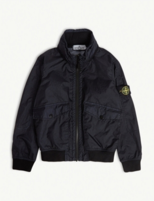 STONE ISLAND Logo patch bomber jacket 4-14 years