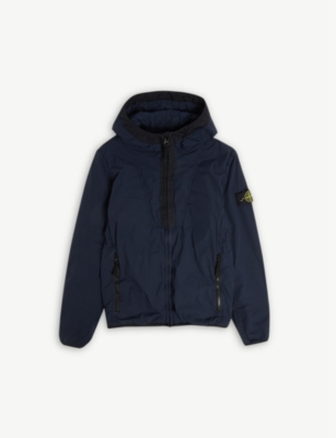 STONE ISLAND Padded hooded zip jacket 4-14 years