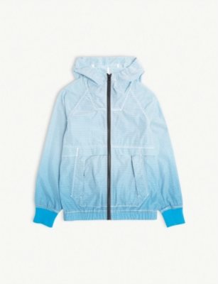 STONE ISLAND Striped hooded windbreaker 4-14 years