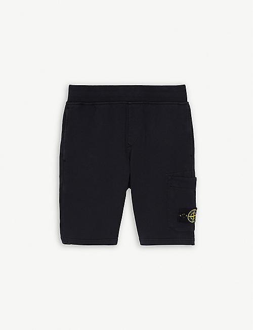 STONE ISLAND Logo cotton shorts 4-14 years 9760dfff4