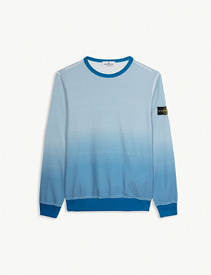STONE ISLAND Optical logo cotton jumper 4-14 years