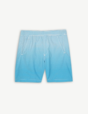 STONE ISLAND Stripe print swim shorts (4-14 years)