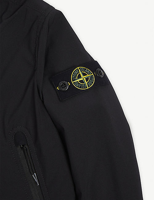 STONE ISLAND Logo patch hooded shell jacket 4-14 years