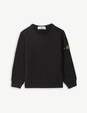 STONE ISLAND Logo cotton sweatshirt 4-14 years