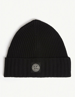 STONE ISLAND Wool and cashmere blend beanie