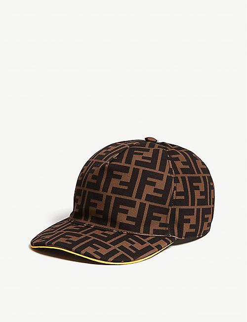 1df1996142b FENDI FF print baseball cap
