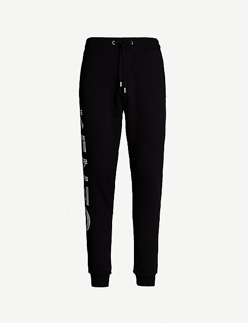 KENZO Logo-detail cotton jogging bottoms