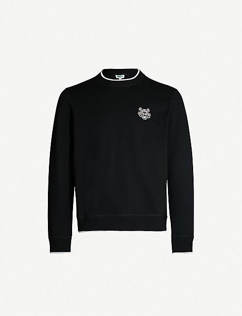 0e400f0cd6130 KENZO Tiger-motif cotton-jersey sweatshirt