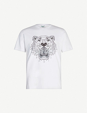KENZO Tiger-print cotton-jersey T-shirt