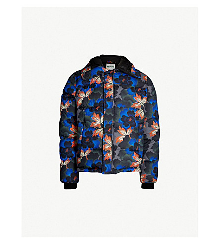 3ed5a5c42c6c KENZO Floral-print shell-down coat (Anthracite