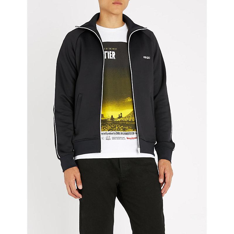 c3328786 KENZO | Logo-Print Jersey Jacket | Goxip