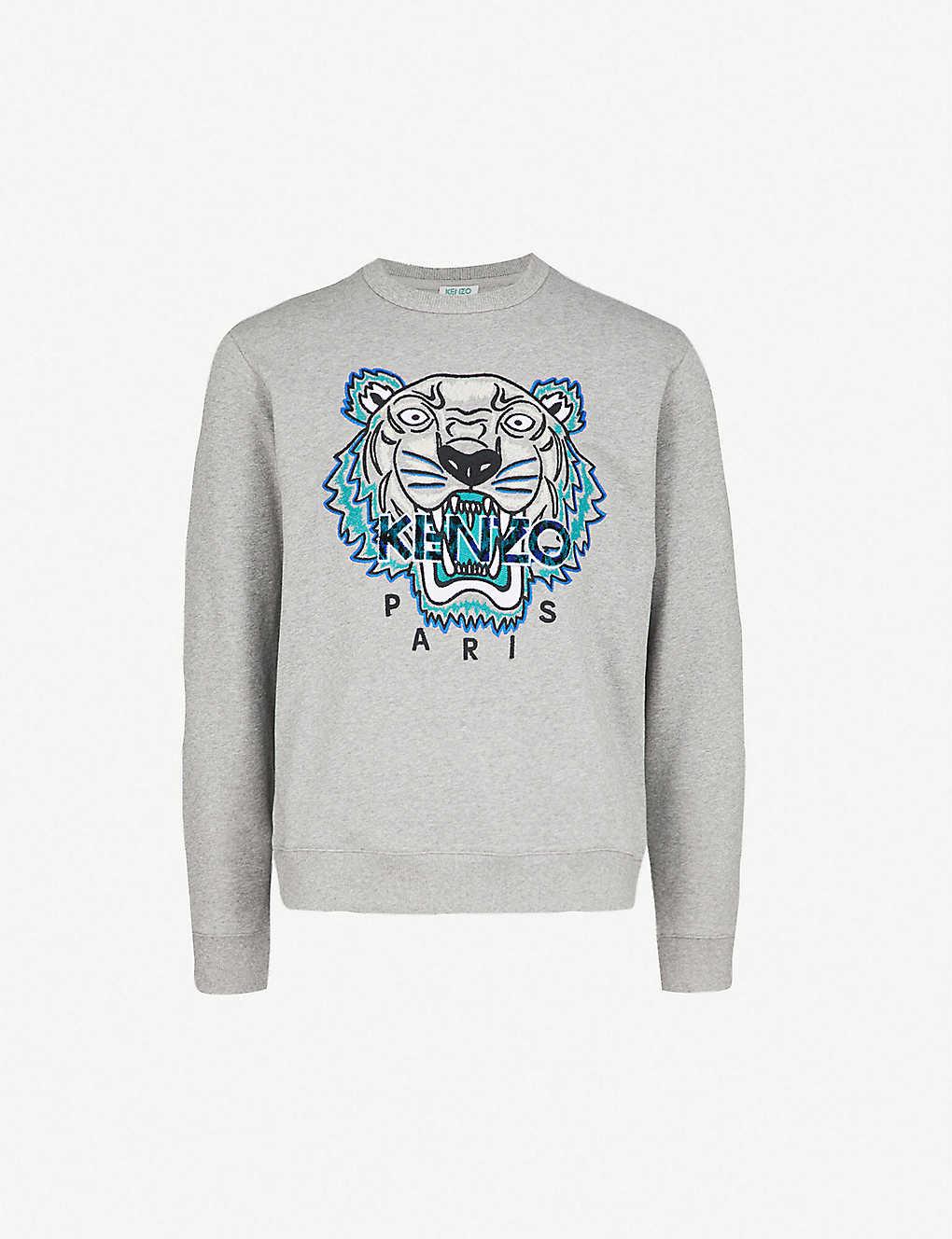 82f7a7ad82a KENZO - Tiger-embroidery cotton sweatshirt | Selfridges.com