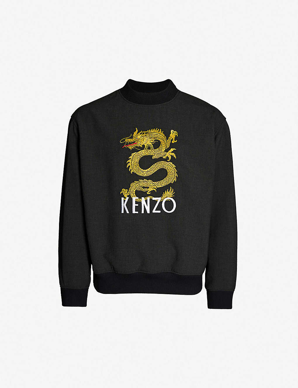 1f0bbc3a KENZO - Dragon-embroidered stretch-jersey sweatshirt | Selfridges.com