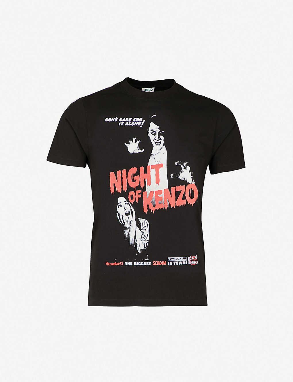 4680ebc701f KENZO - Night of Kenzo cotton-jersey T-shirt   Selfridges.com