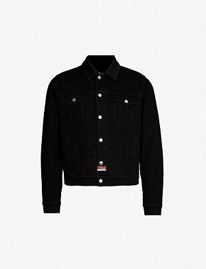 144e9607 KENZO - Tiger-embroidered denim trucker jacket | Selfridges.com