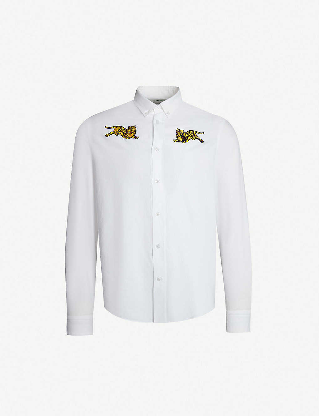 a2d7570b KENZO - Tiger-embroidered casual-fit cotton shirt | Selfridges.com
